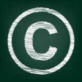 Kréta ikon zöld táblán