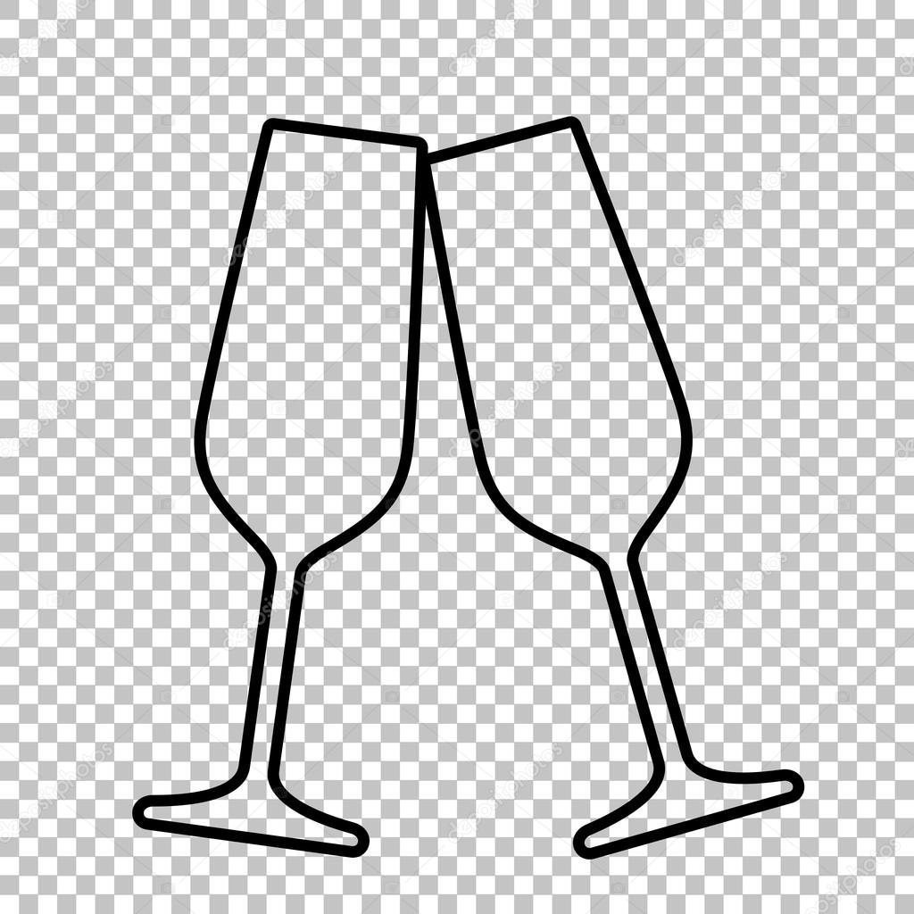 champagne flute cartoon vector images 43 - HD 1300×1300
