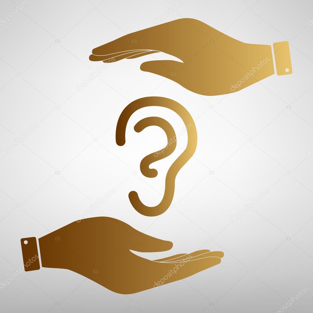 Menschliche Ohr Zeichen — Stockvektor © Asmati1702@gmail.com #104302876