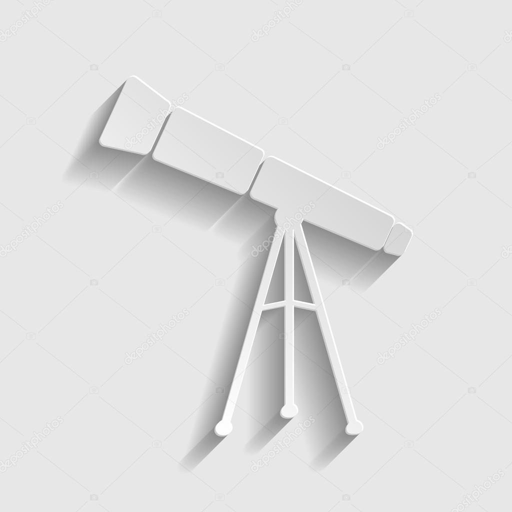 Telescope simple  icon