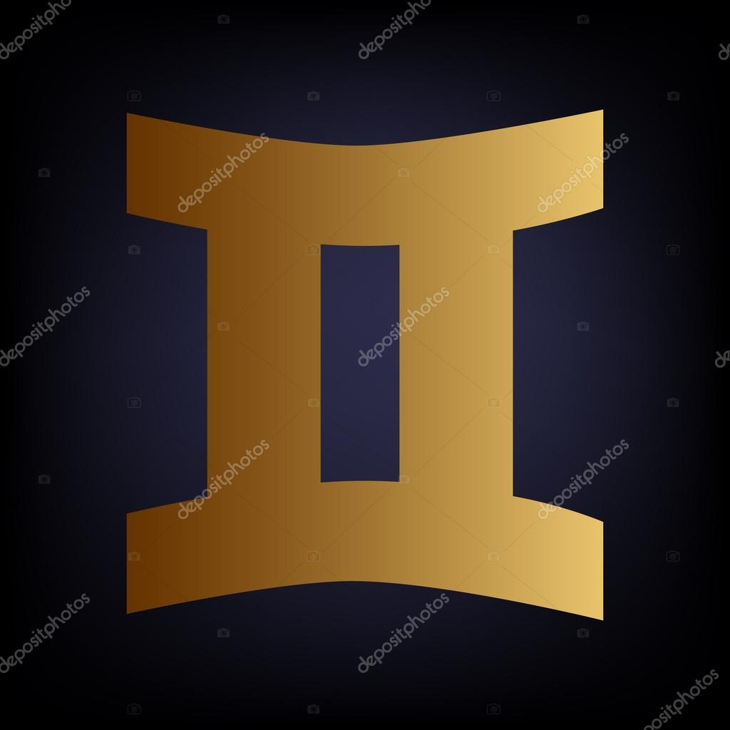 Gemini sign golden style icon stock vector asmati1702gmail gemini sign golden style icon stock vector buycottarizona