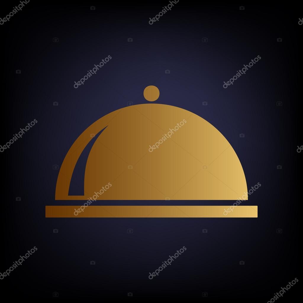 Signo de servidor. Icono de estilo oro — Vector de stock ...