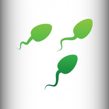 Sperms sign. Green gradient icon