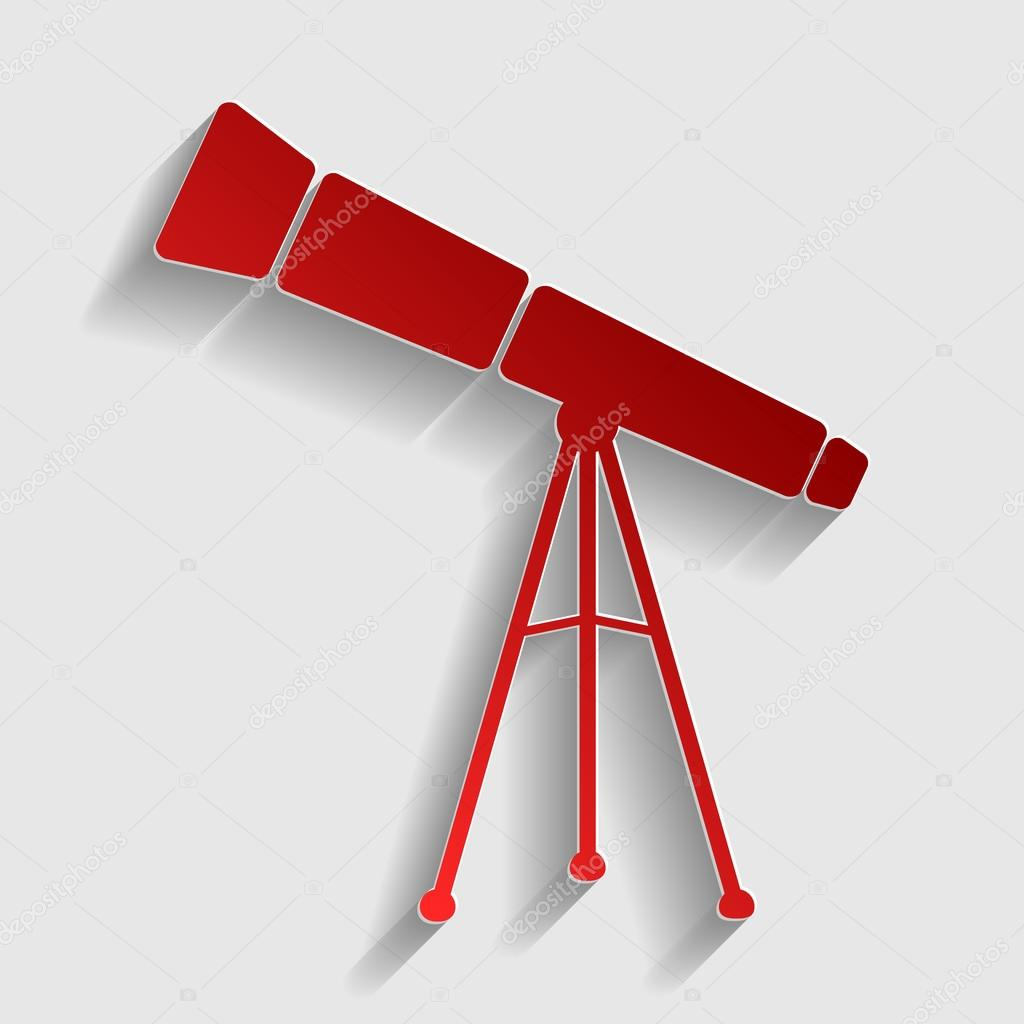Telescope simple sign