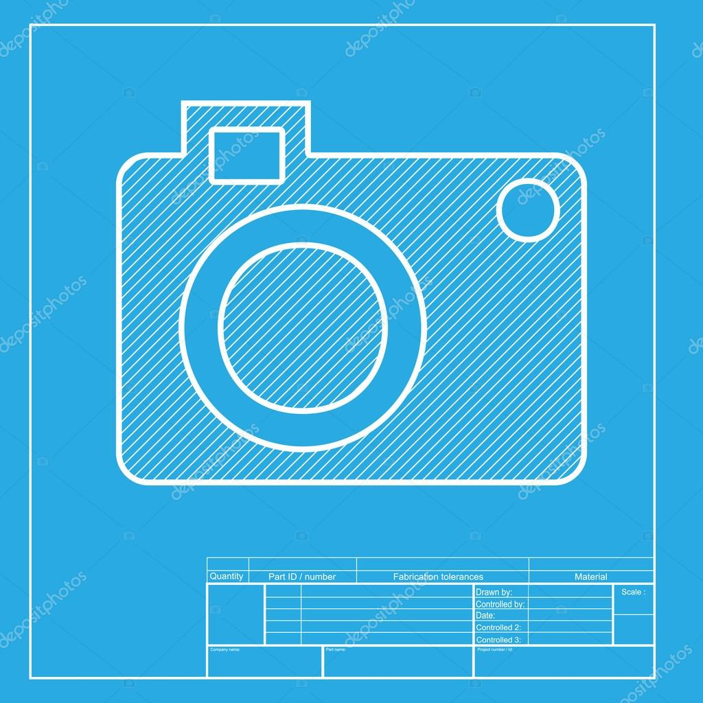 Digital camera sign white section of icon on blueprint template digital camera sign white section of icon on blueprint template archivo imgenes vectoriales malvernweather Images