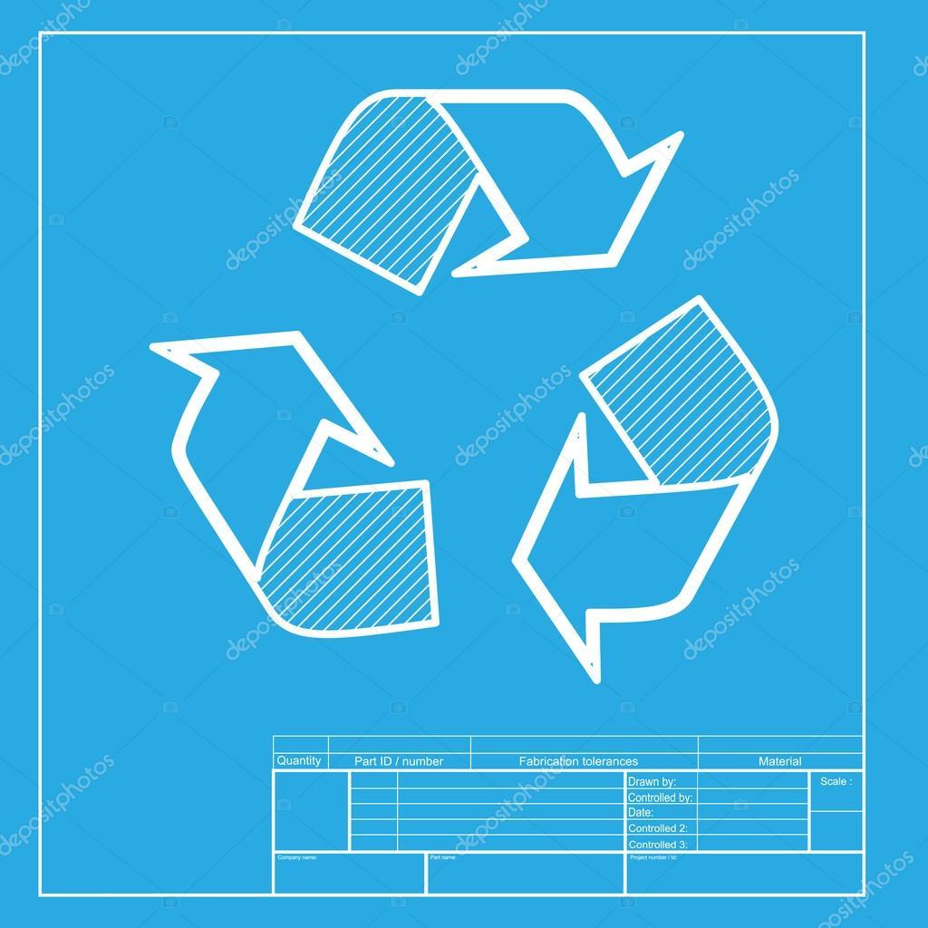 Reciclar el concepto de logotipo blanca seccin de icono de la reciclar el concepto de logotipo blanca seccin de icono de la plantilla de blueprint malvernweather Gallery
