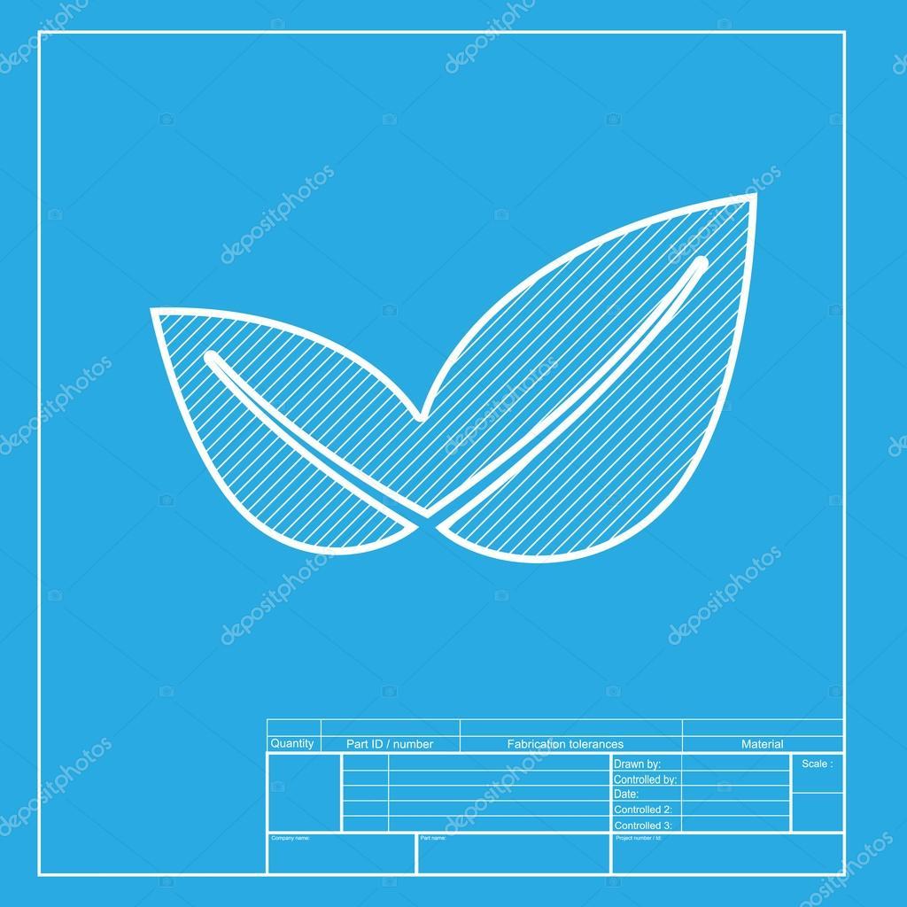 Ilustracin de signo de la hoja blanca seccin de icono de la blanca seccin de icono de la plantilla de blueprint malvernweather Gallery
