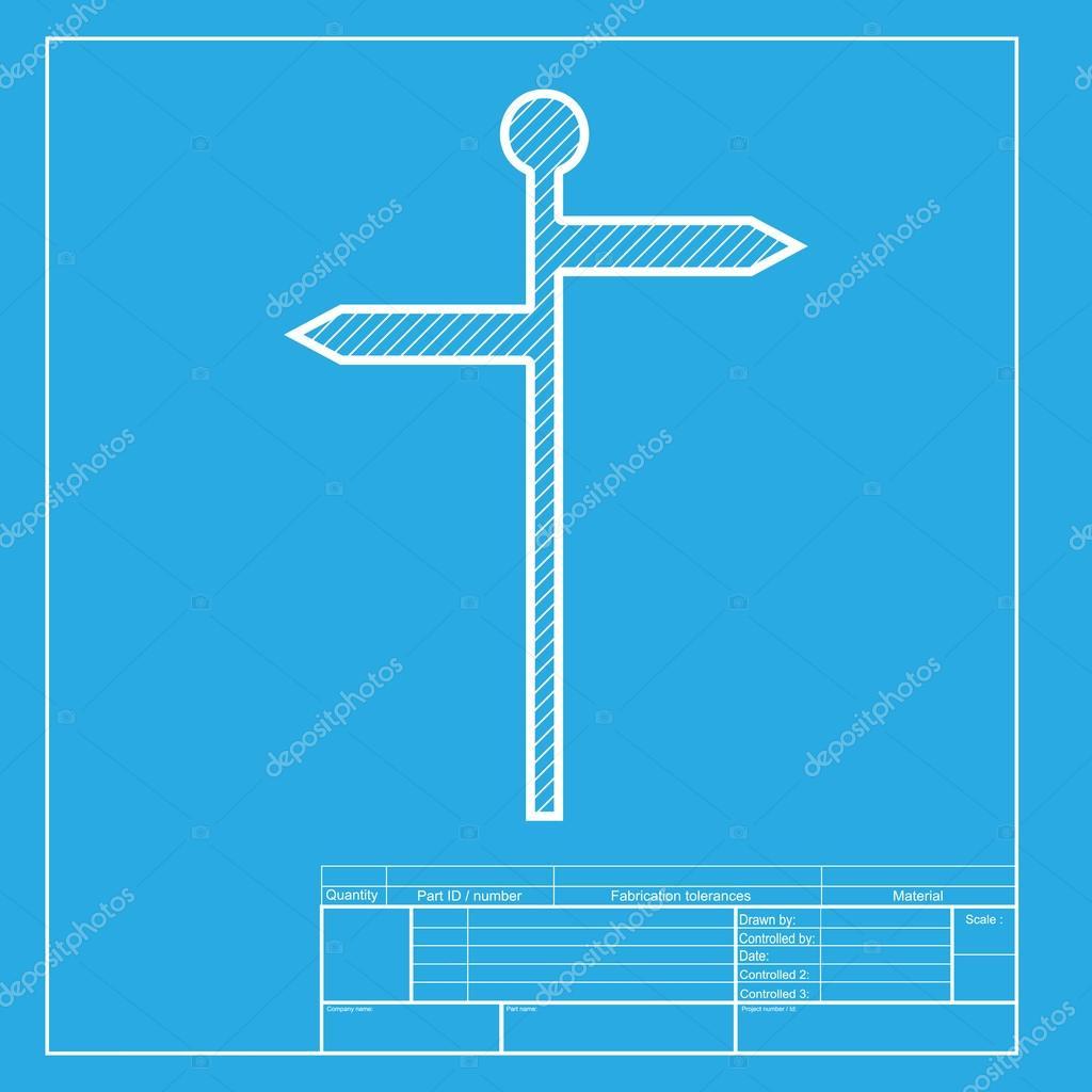 Seal de carretera direccin blanca seccin de icono de la blanca seccin de icono de la plantilla de blueprint archivo malvernweather Image collections