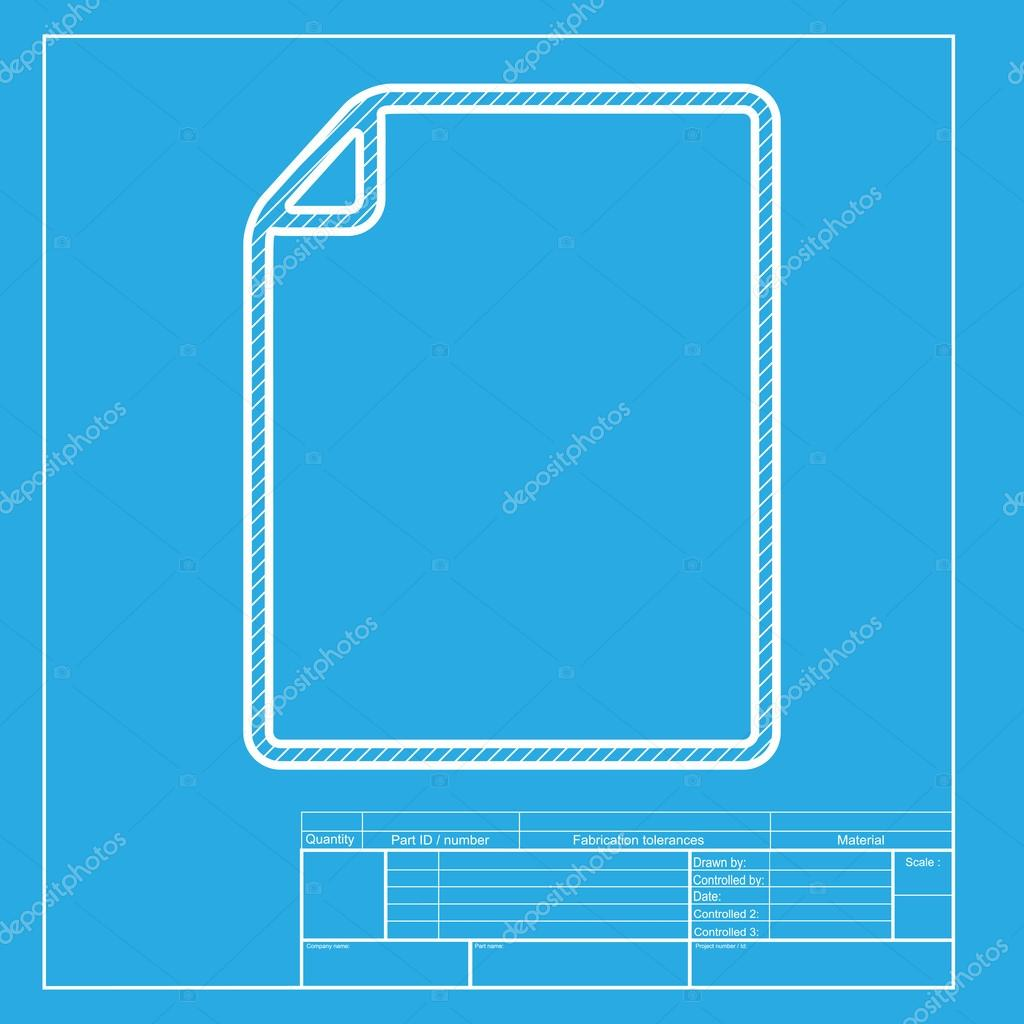 Document sign illustration white section of icon on blueprint document sign illustration white section of icon on blueprint template stock vector malvernweather Images