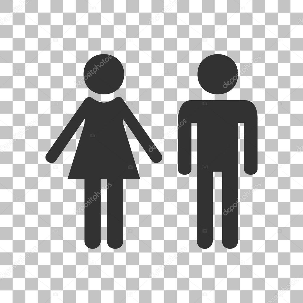 male and female sign. dark gray icon on transparent background