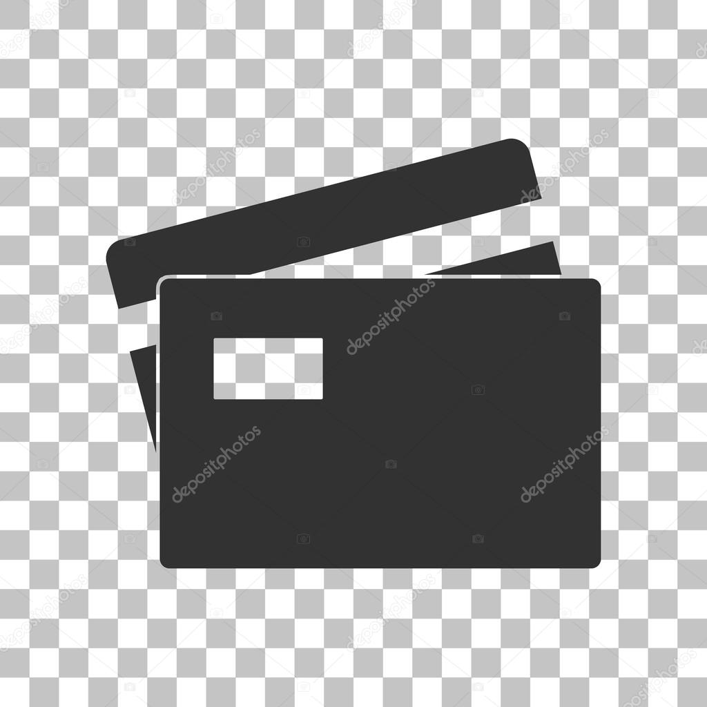 credit card sign dark gray icon on transparent background stock