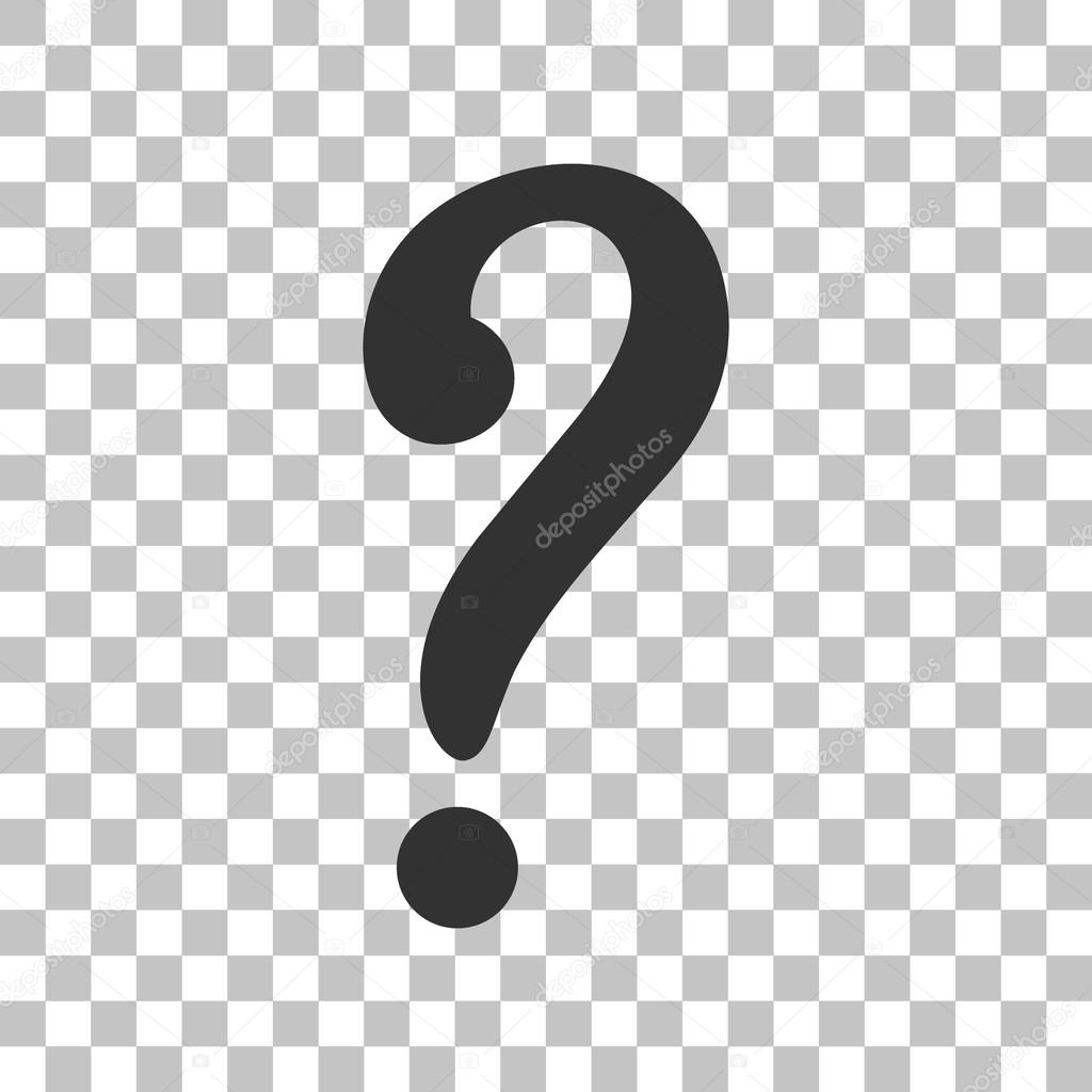 Question mark sign. Dark gray icon on transparent background ...