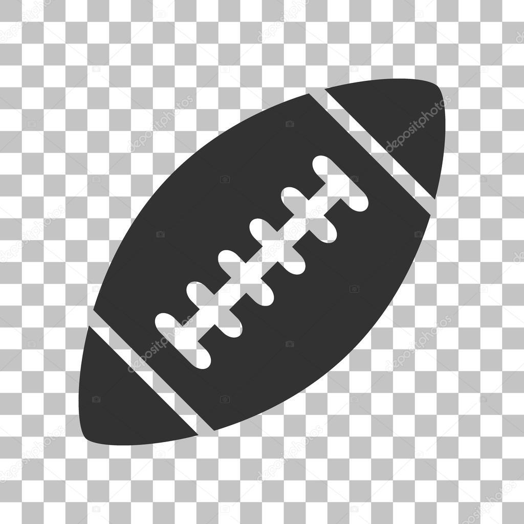 American Simple Football Ball Dark Gray Icon On Transparent