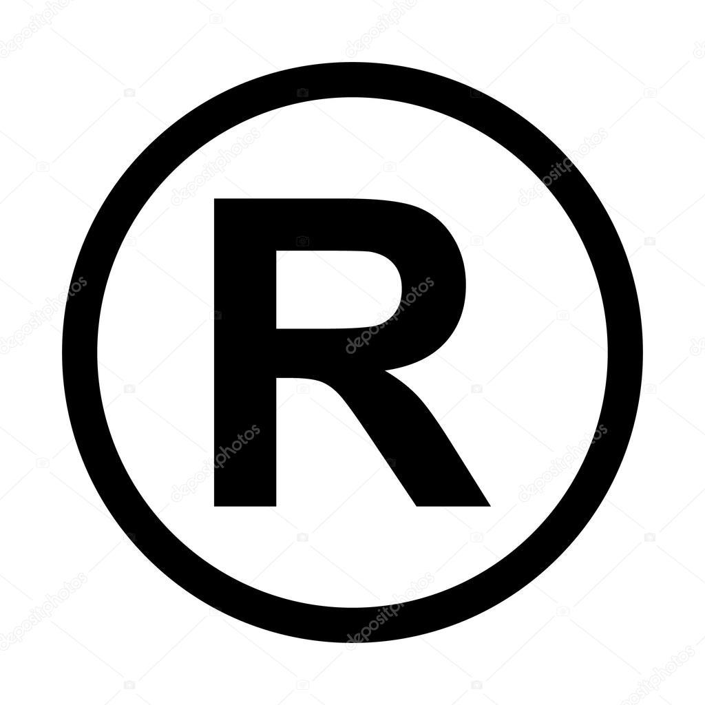 Icono de marca registrada — Archivo Imágenes Vectoriales ...