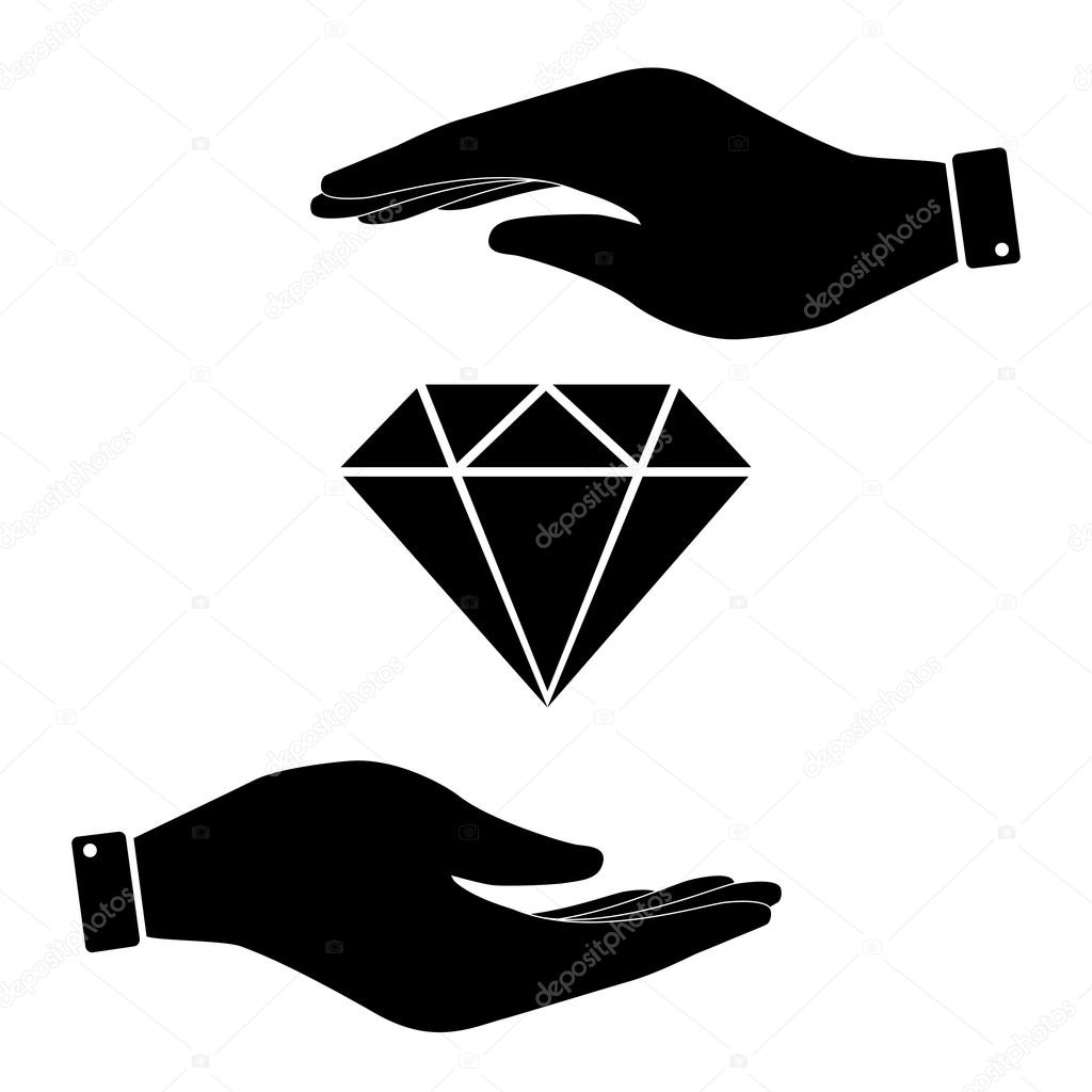 Diamond in hand icon stock vector asmati1702gmail 95949812 diamond in hand icon care symbol vector illustration flat design style vector by asmati1702gmail biocorpaavc
