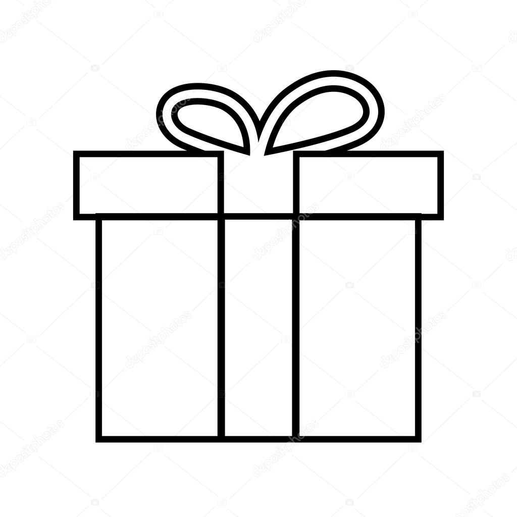 Line Art Box Design : Gift box line icon — stock vector asmati gmail