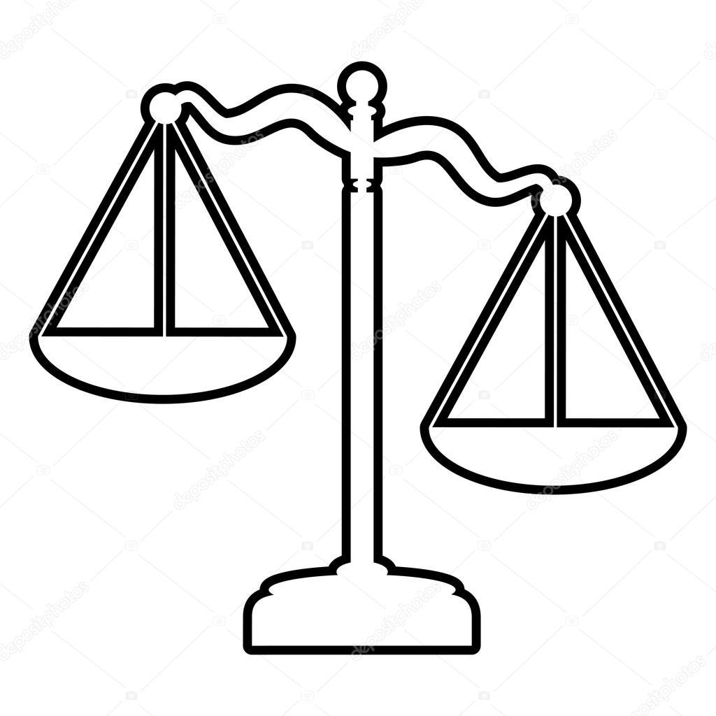 Imágenes Balanzas Justicia Icono De La Línea De Balanzas De La