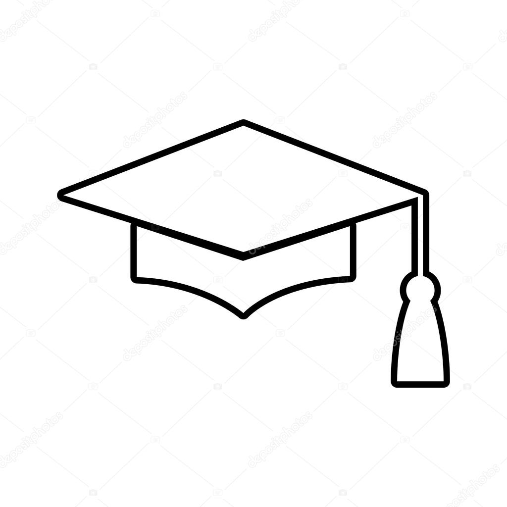 Mortar Board or Graduation Cap line icon — Stock Vector © Asmati1702 ... 2ee8b6cd1ffa