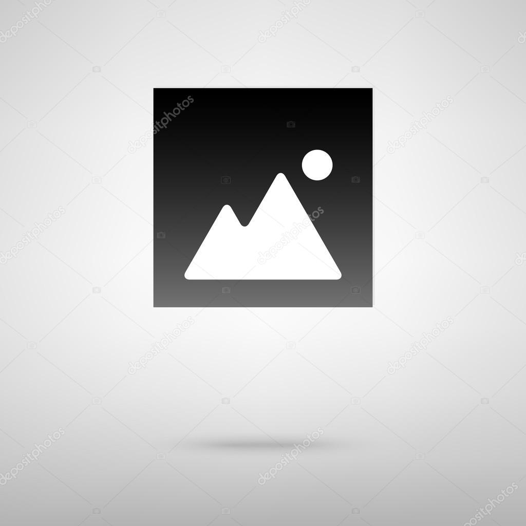 Image sign black icon