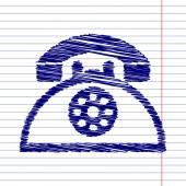 Fotografie Retro phone icon