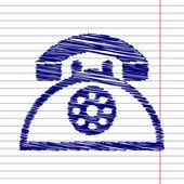 Fotografie Retro phone icon