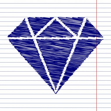 Diamond sign illustration