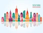 New York city. Vektorové ilustrace