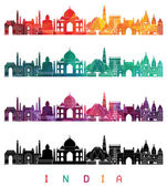 Photo India skyline detailed silhouette