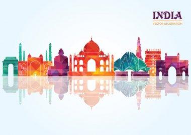 India skyline. Vector illustration stock vector
