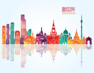 Moscow skyline. Vector illustration