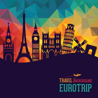 Travel and tourism background. Europe stock vector