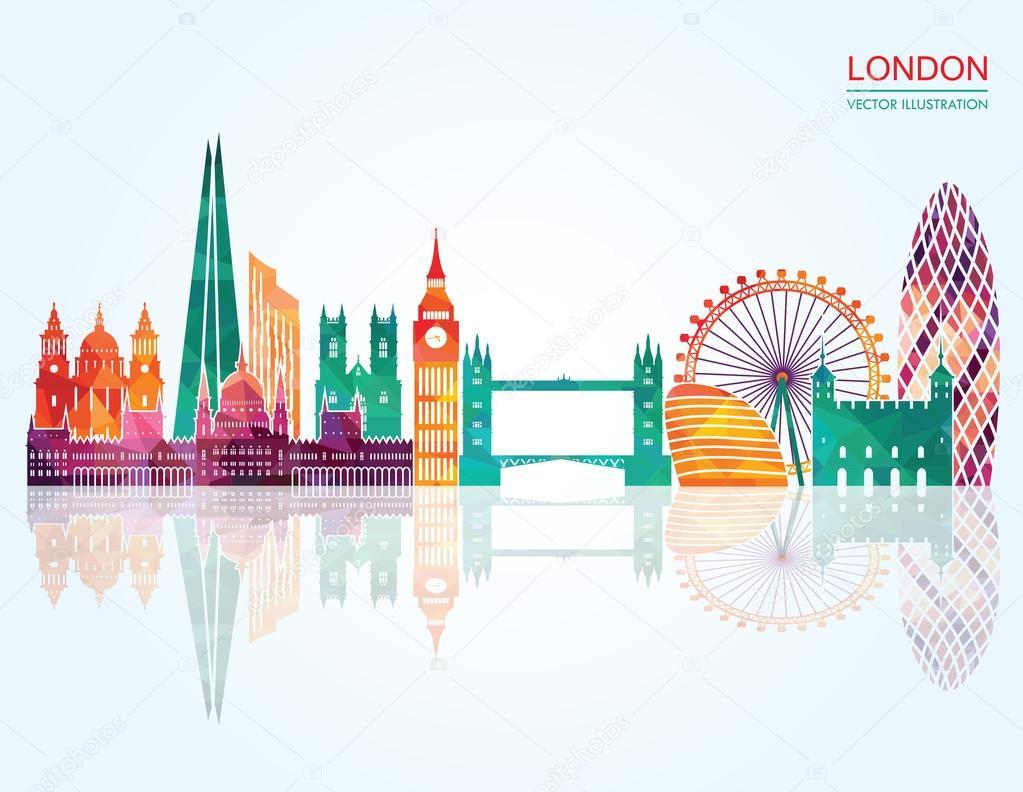 London Skyline abstract.
