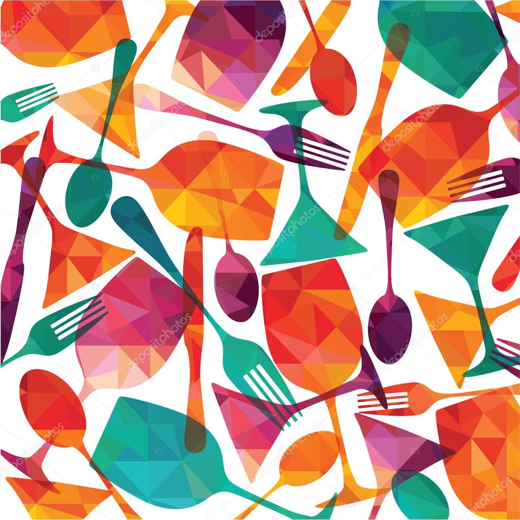 Stock Illustration Food And Drinks Pattern