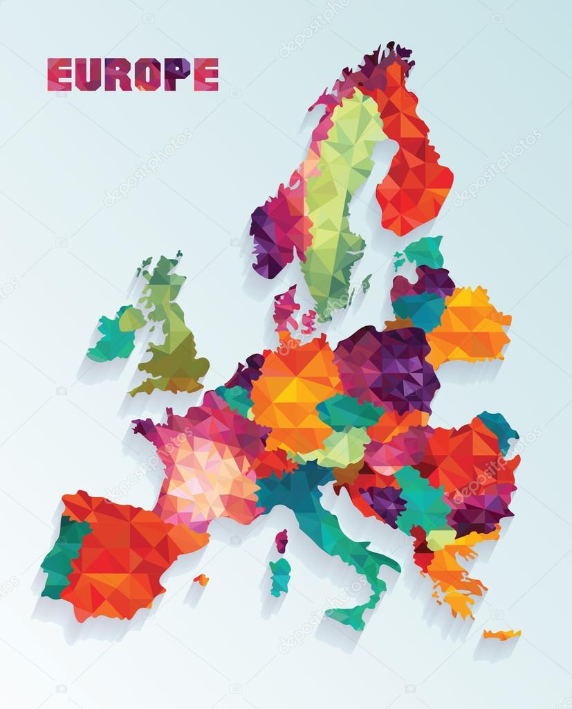 vector illustration of europe - photo #6