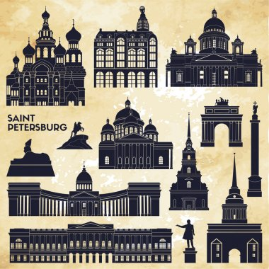 Saint Petersburg monuments.