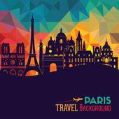 Paříž cestovní ruch pozadí