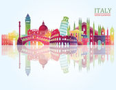 Fotografia Italy skyline illustration