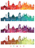 Italy skyline illustration