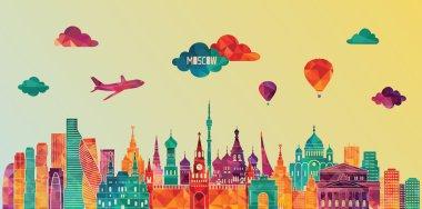 Moscow skyline illustration
