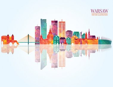 Warsaw detailed skyline.