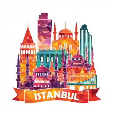 Istanbul detailed silhouette.
