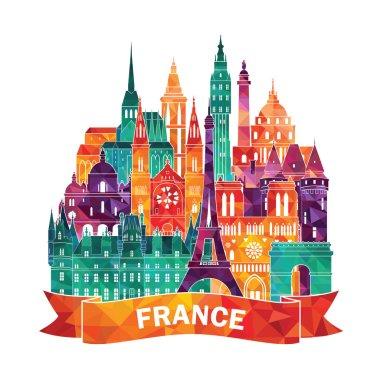 France detailed skyline.