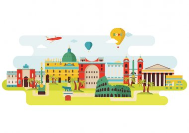 Rome skyline illustration
