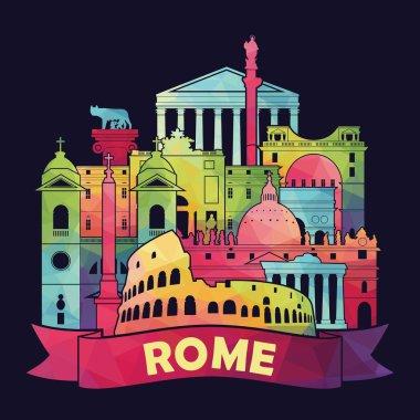 Rome skyline illustration