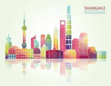 Shanghai skyline illustration