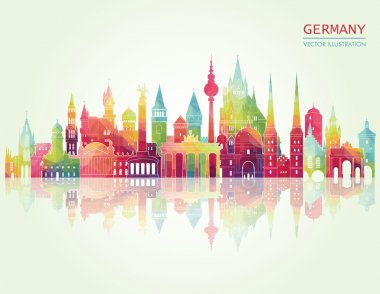 Travel Germany famous landmarks skyline.