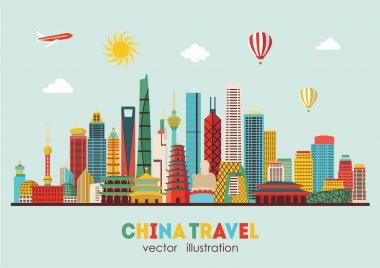 China detailed skyline.