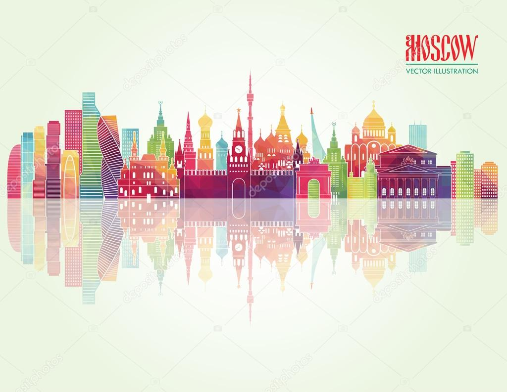 Moscow illustration background.