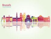Brusel Panorama podrobné silueta