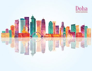 Doha detailed skyline